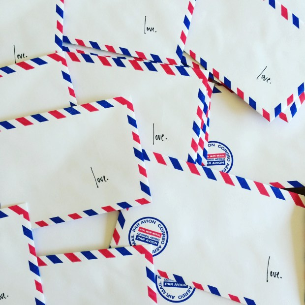 love lettering project airmail envelopes
