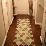 Stenciled Drop Cloth Runner