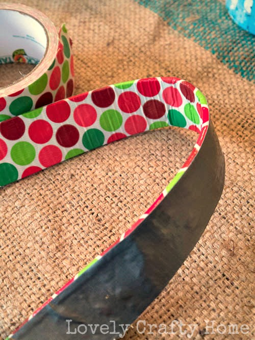 holiday polka dot duck tape