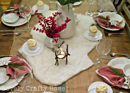 lodge style table setting
