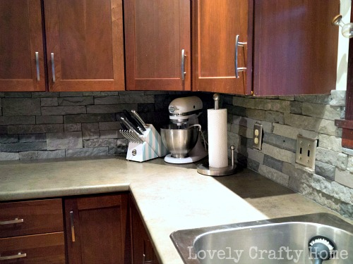 DIY Kitchen Backsplash with Airstone