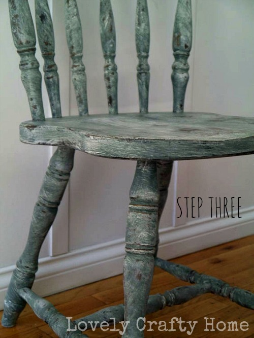 distressed chippy chair tutorial