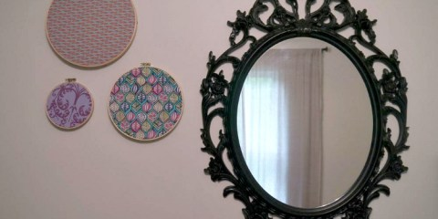 Embroidery Hoop Fabric Wall Art