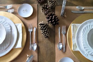 DIY Cork Place Mat Tablescape