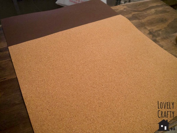 cork mat on foam backing