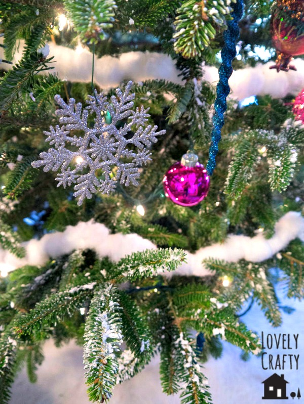 A Snowy Candyland Christmas Tree