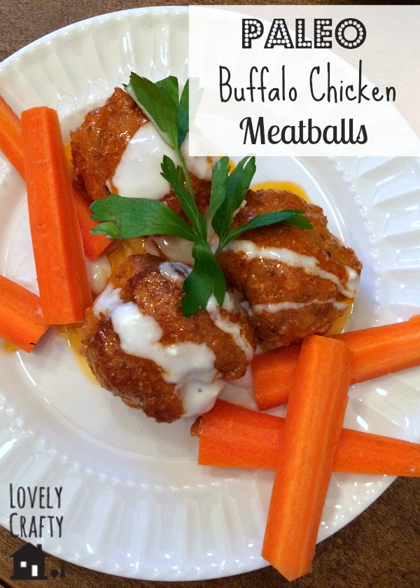 Paleo Buffalo Chicken Meatballs