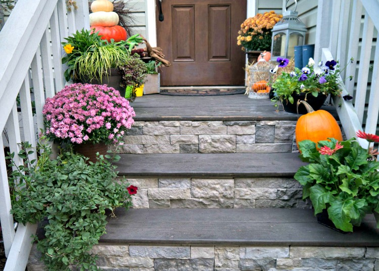 » Airstone Porch Stairs (and A Bit Of Fall)