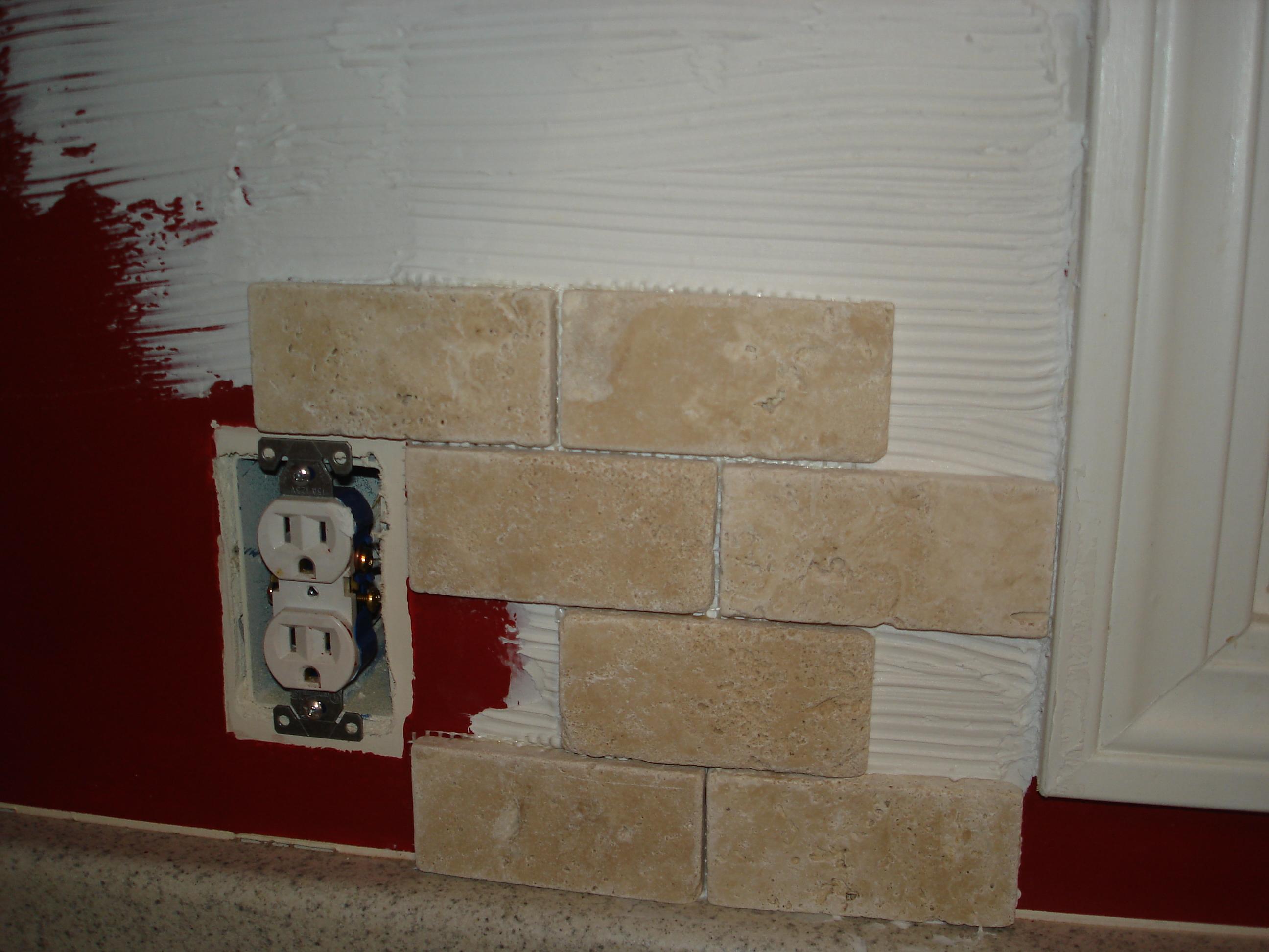 tutorial: tile kitchen back splash