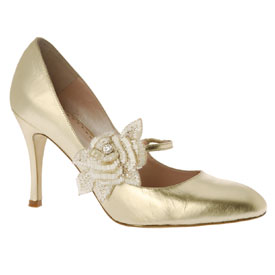Elize in Gold, by Emmy Custom Made Wedding Shoes...