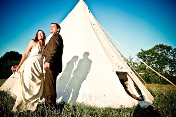 A Glastonbury Festival Inspired Wedding at Brick House Farm, Kent...