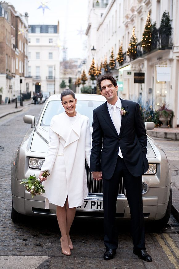 An Intimate London Elopement for a Valentino Bride - Photography by Dominique Bader...