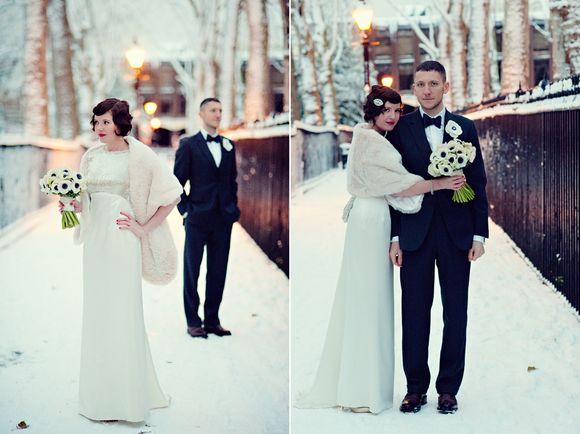 An Art Deco, 1920's Inspired London Winter Wedding... (Weddings )