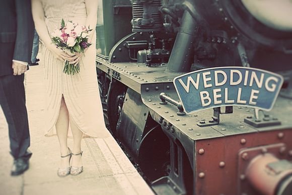 A 1930's Wedding Dress and Arriving in Style by Steam Train... (Weddings )