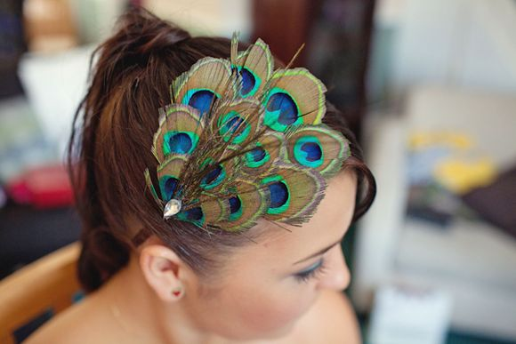 Blue by Enzoani and a Birdcage Veil ~ A Cute and Colourful Wedding... ()