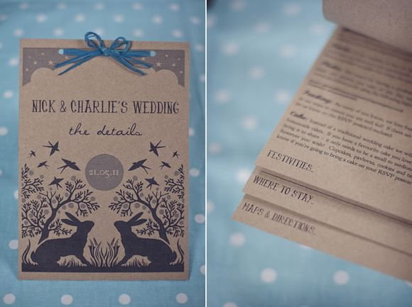 Handmade eco friendly wedding stationery