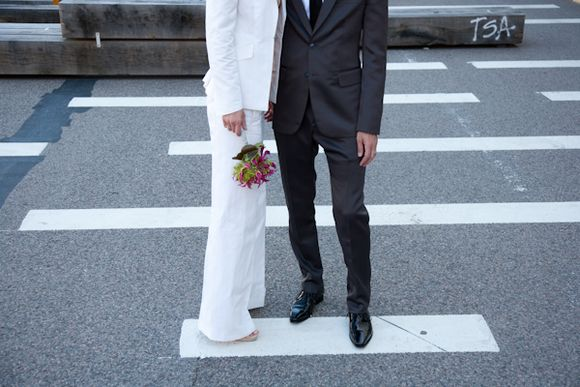A Sportsmax Trouser Suit in White, for a Cool and Classic Bride... (Weddings )