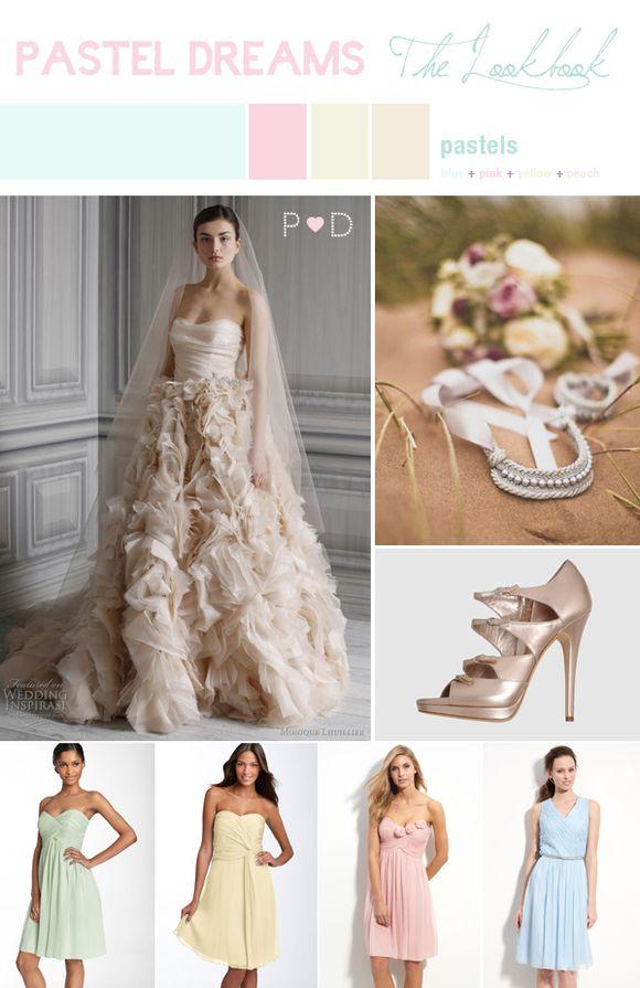 Bridal Inspiration Board #37 ~ Pastel Dreams... (Mood + Inspiration Boards )