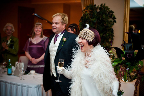 A 1920's Flapper Style Wedding Dress and Charleston Inspired Headpiece... (Weddings )