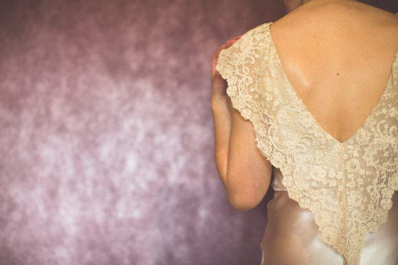 lace collar detail, wedding dress