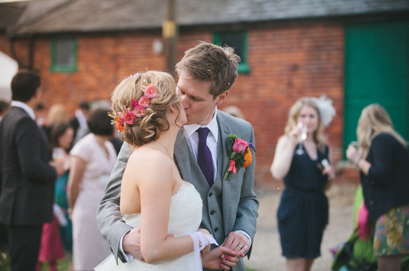 Benjamin Roberts wedding dress, orange wedding shoes, Smeetham Hall barn wedding….