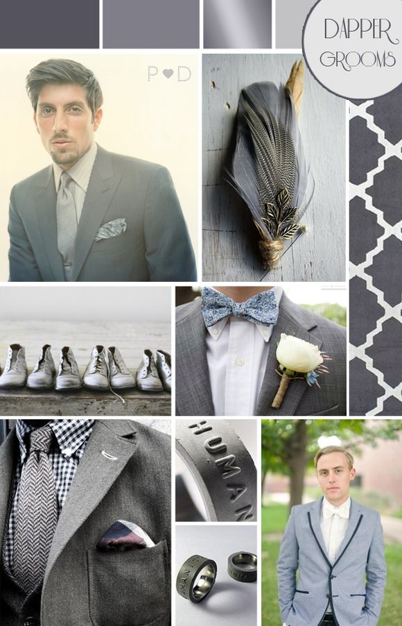 Fifty Shades of Grey Wedding Moodboard