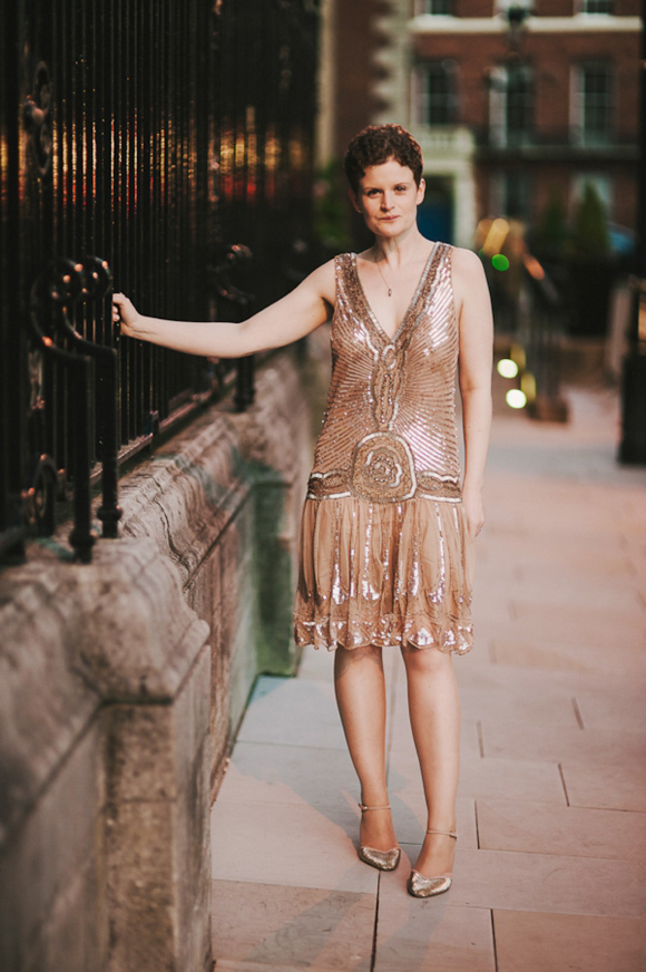 A 1920's Gold, Beaded Flapper Style Wedding Dress... (Weddings )