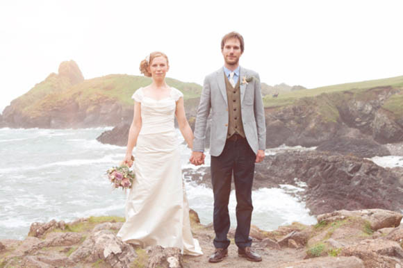 A Relaxed Cornish Farm Wedding and a 200 Year Old Vintage Veil... (Weddings )