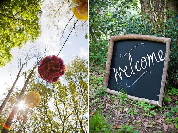 Jenny Packham for a Midsummer Nights Dream Inspired Woodland Wedding... (Weddings )