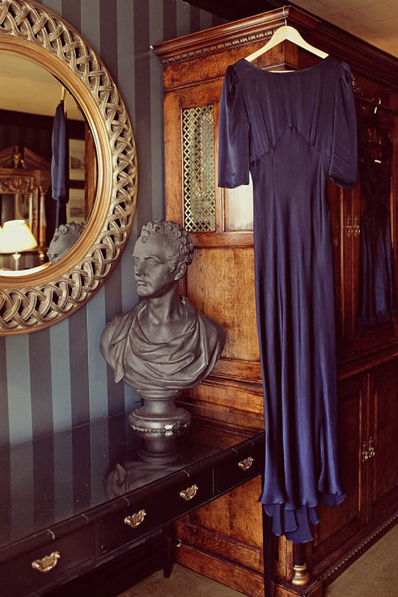 Navy blue Ghost wedding dress