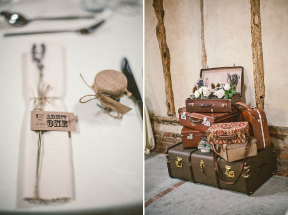 A Relaxed and Rustic 'Vintage Travel' Insipired Barn Wedding (Weddings )
