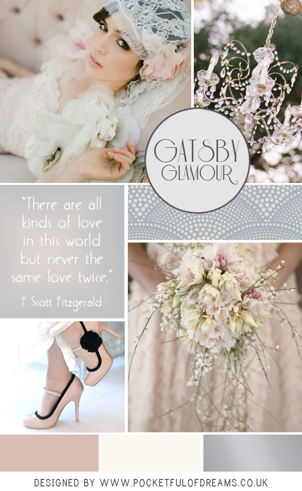 Bridal Inspiration Board #53 ~ Gatsby Glamour (Mood + Inspiration Boards )