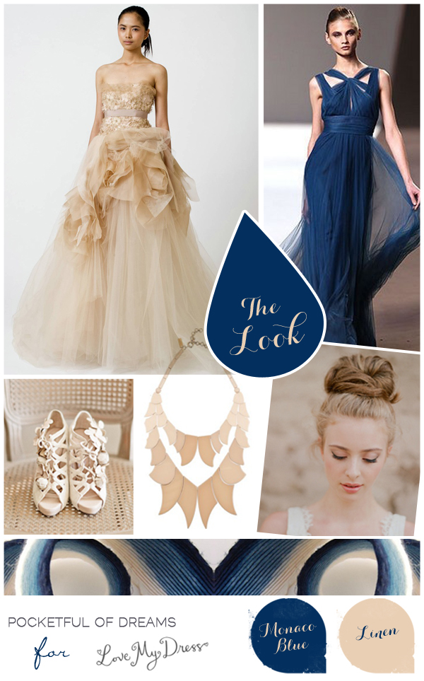 Bridal Inspiration Board #56 ~ Something Blue... (Mood + Inspiration Boards )