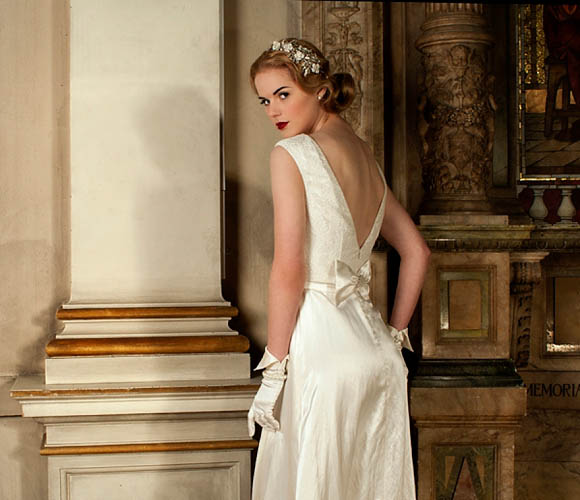 Vintage style wedding dresses by Sanyukta Shrestha of London