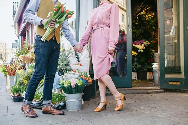 Vintage style wedding shoes by Agnes and Norman