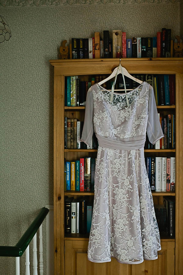A 1950 tea length dress for a vintage inspired London wedding