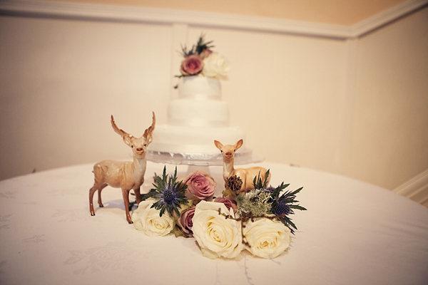 Winter woodland meets art deco glamour wedding