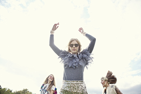 A Feather Headdress, Medieval Woodland, Vintage Gowns and Sequin Hotpants!  Eclectic, Hippy Inspired Bridal Fun (Styled Shoots )