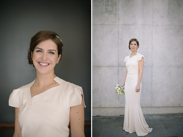 Roland Mouret Wedding Dress // London Bride // Photography by Tom Ravenshear