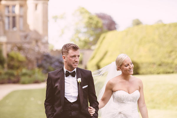 A Sparkling Monique Lhuillier Gown For An All-White, Romantic Castle Wedding (Weddings )
