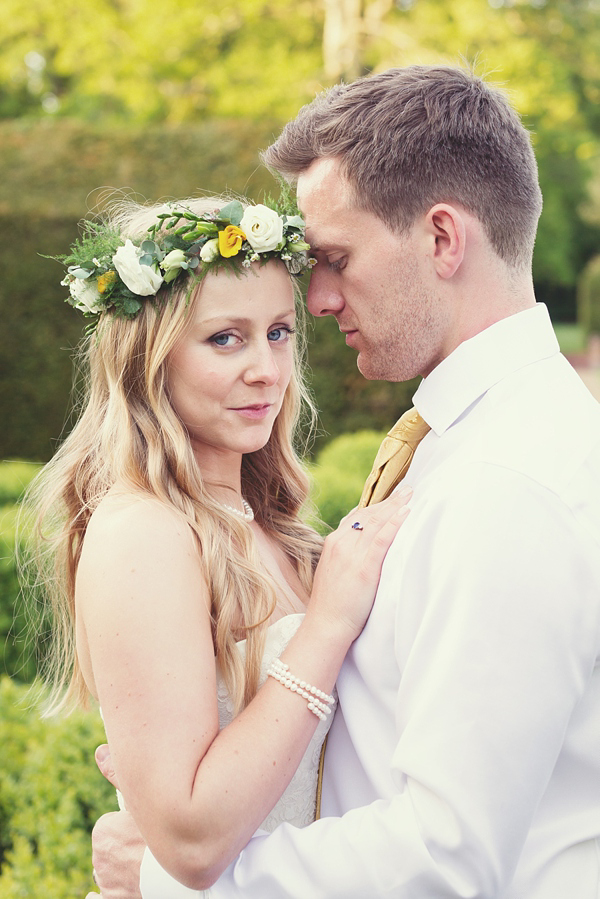 A Pretty Floral Circlet For A Whimsical, English Country Inspired Wedding Full Of Yellow (Weddings )