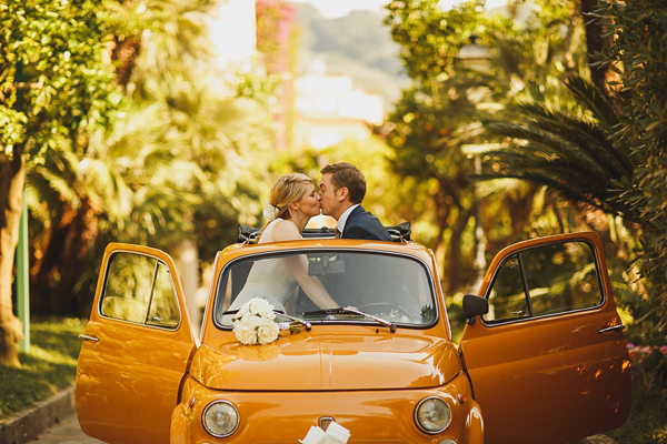 A Yellow Fiat 500 And Maids in Olive Green For A Relaxed Italian Wedding (Weddings )