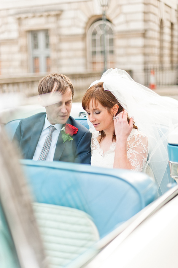 A Red, White And Blue 1950s American High School Prom Inspired London City Wedding (Weddings )