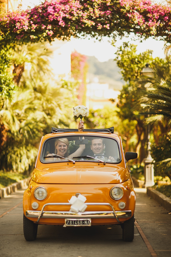 Fiat 500, Sorrento Wedding, Italy Wedding, ARJ Photography