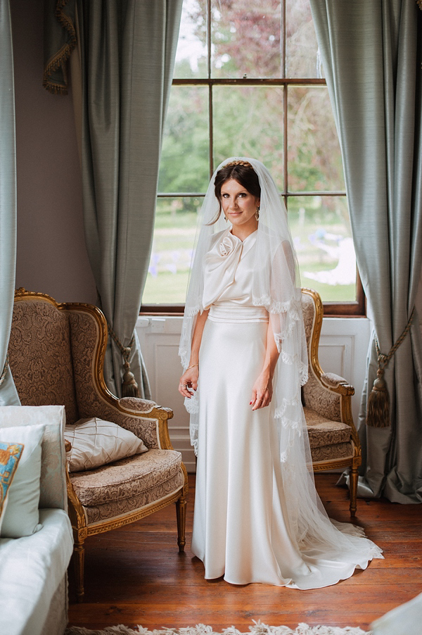 David Fielden Wedding Dress, 1930s Inspired Wedding, Angela Ward-Brown Wedding Photography, Hill Place Wedding Swanmore Hampshire