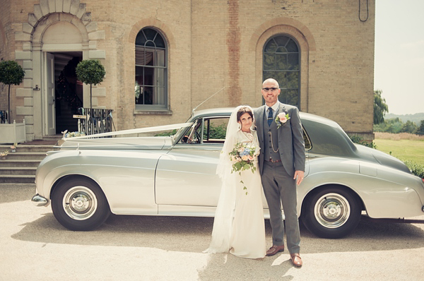 A Glamorous David Fielden Dress And Pink Sparkly Shoes for a Laid Back 1930s Inspired Wedding (Weddings )