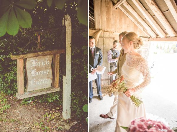 Charlie Brear, vintage inspired weding dress, country barn wedding, rustic wedding