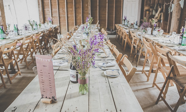 Wild Flowers, Camping and Vintage Inspired Dress For A Laid Back Humanist Barn Wedding (Weddings )