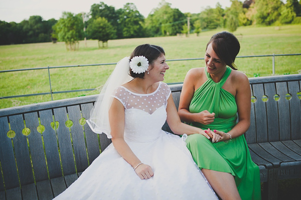 A 50's Style Candy Anthony Gown For A Green Polka Dot Inspired Barn Wedding (Weddings )