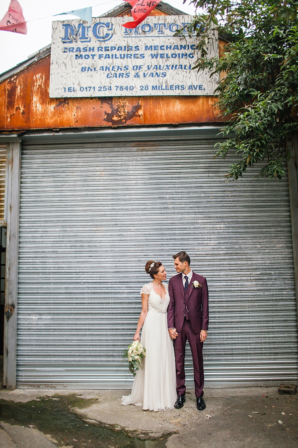 Jenny Packham, Purple And London Love ~ A Modern Vintage Inspired Hackney Wedding (Weddings )